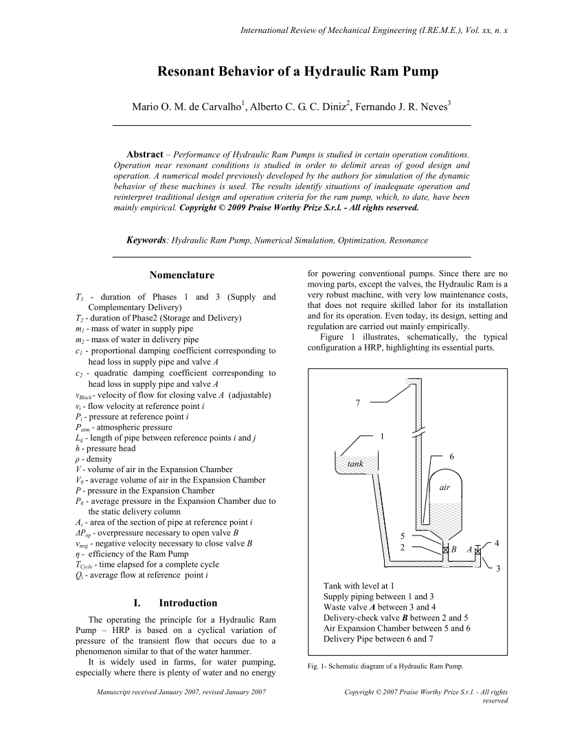 hydraulic ram diagram hotpoint vtd00 wiring schematic of a pump download scientific