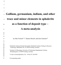 pdf gallium germanium indium and other minor and trace elements in sphalerite as a function of deposit type a meta analysis [ 850 x 1203 Pixel ]