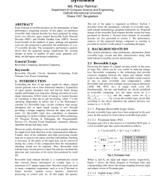 a novel parity preserving reversible binary to bcd code converter with testability of building blocks in quantum circuit request pdf [ 850 x 1202 Pixel ]
