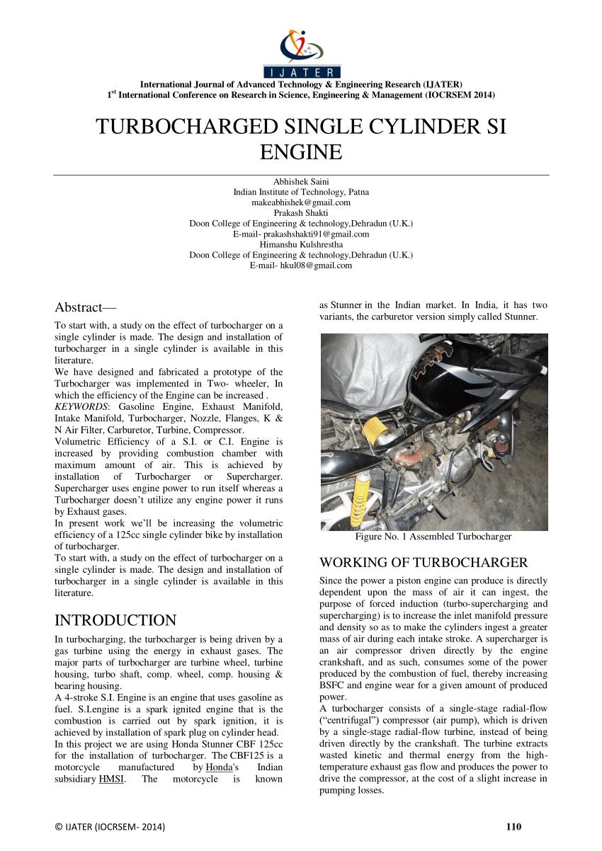 medium resolution of  pdf turbocharged single cylinder si engine