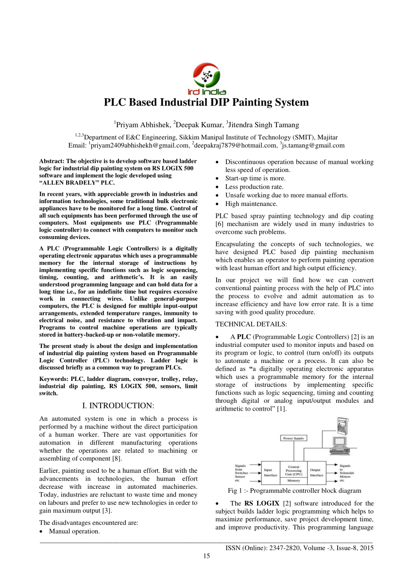 hight resolution of  pdf plc based industrial dip painting system