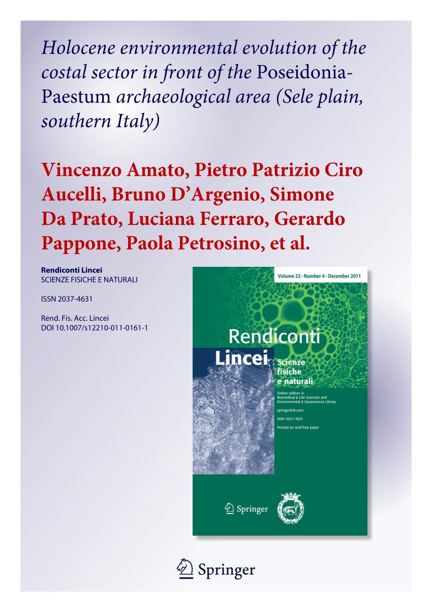 medium resolution of  pdf holocene environmental evolution of the costal sector before the poseidonia paestum archaeological area sele plain southern italy