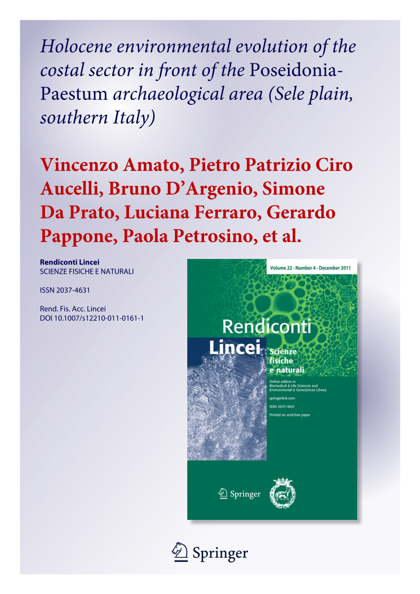 hight resolution of  pdf holocene environmental evolution of the costal sector before the poseidonia paestum archaeological area sele plain southern italy