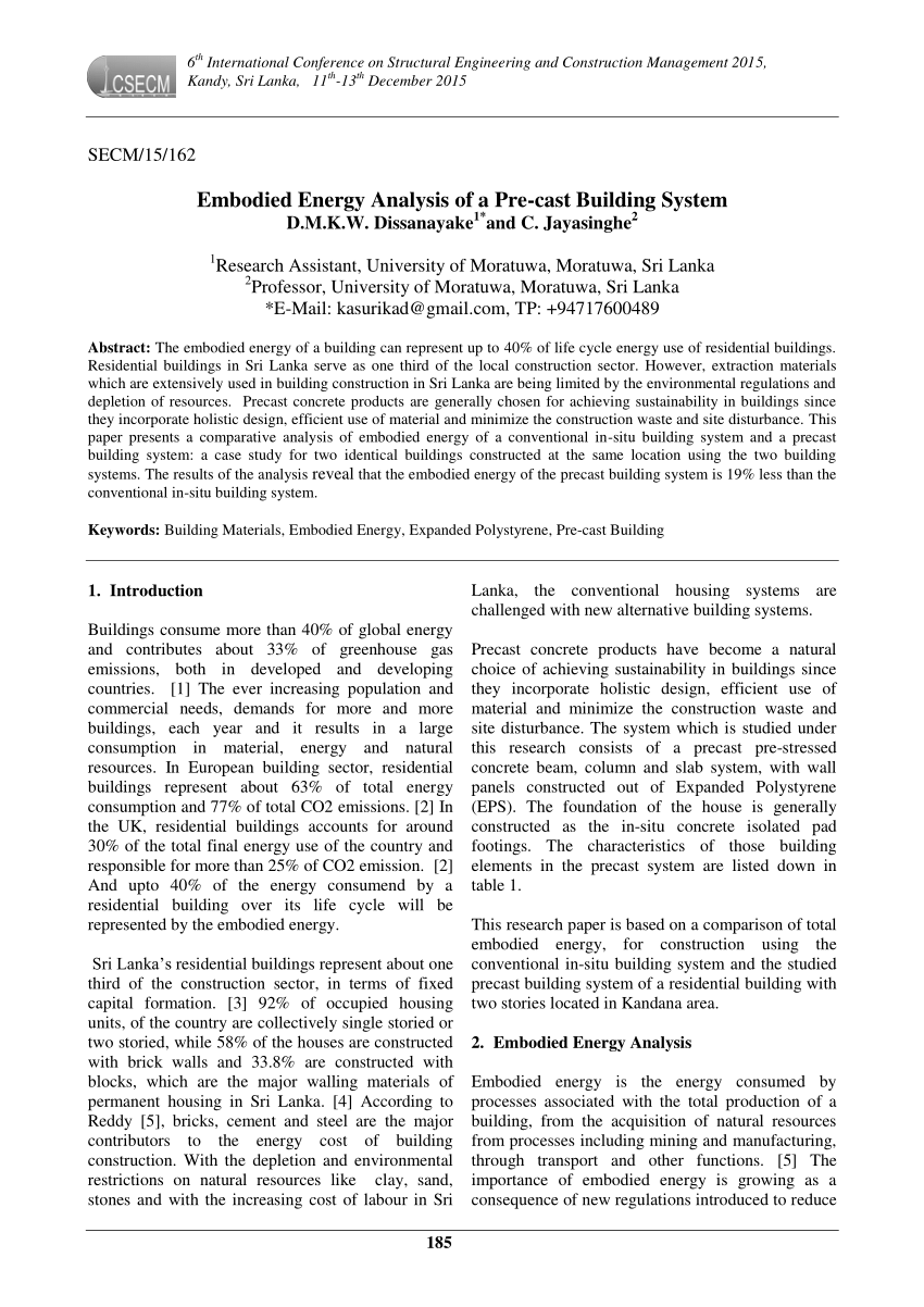 medium resolution of  pdf embodied energy of alternative building materials and their impact on life cycle cost parameters