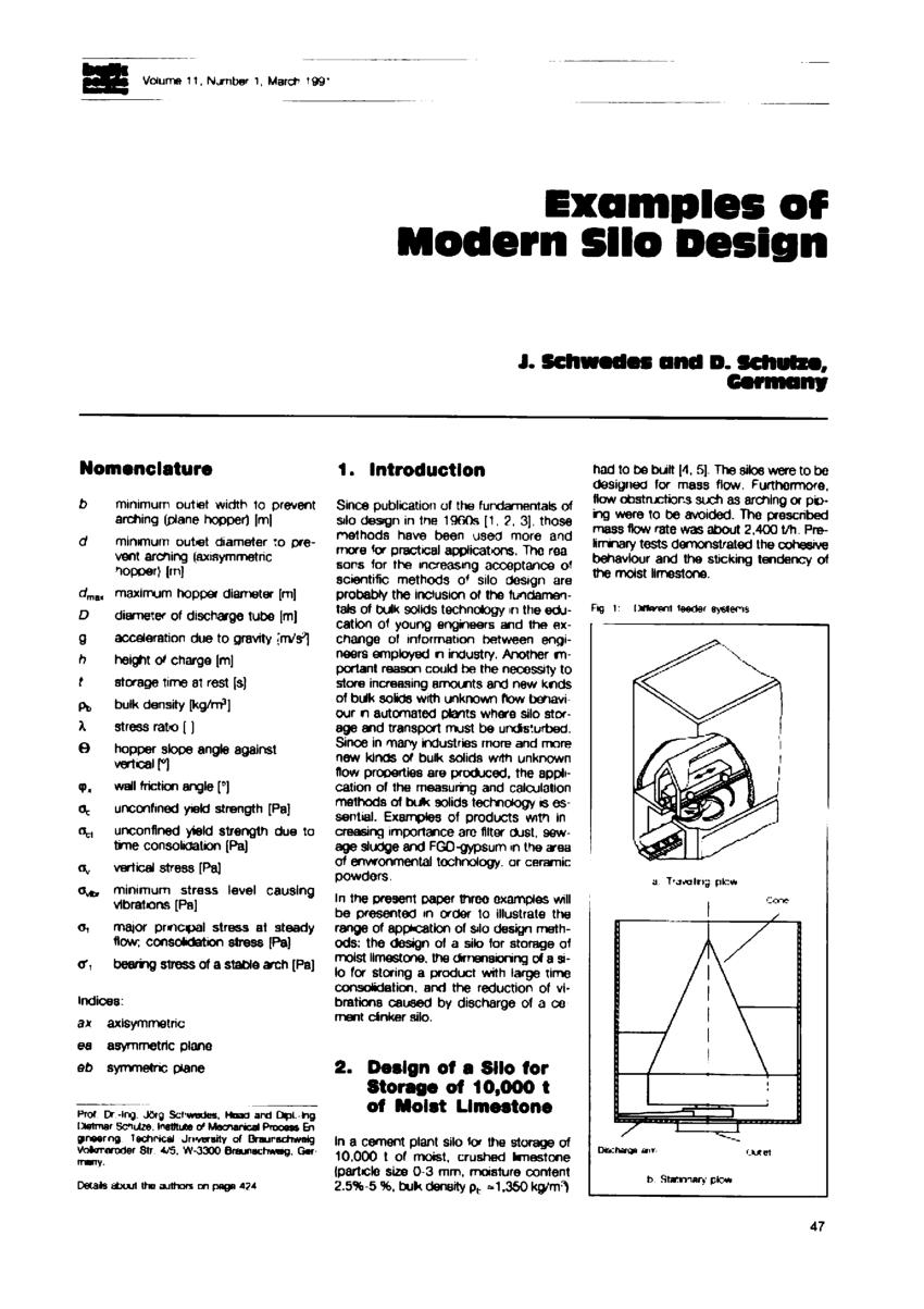 (PDF) Examples of modern silo design