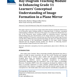 pdf the impact of an interactive ray diagram teaching module in enhancing grade 11 learners conceptual understanding of image formation in a plane mirror [ 850 x 1202 Pixel ]
