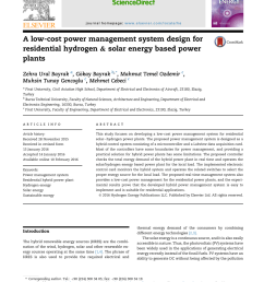 pdf a low cost power management system design for residential hydrogen solar energy based power plants [ 850 x 1133 Pixel ]