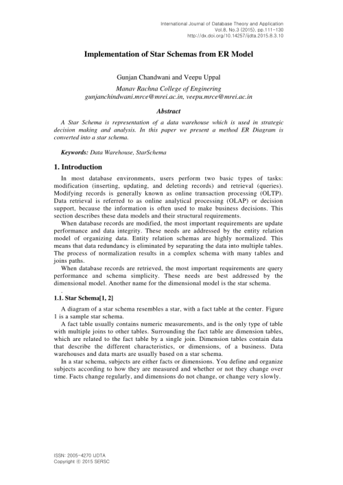 small resolution of  pdf from er models to dimensional models bridging the gap between oltp and olap design part i