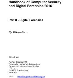 pdf wikipedia handbook of computer security and digital forensics 2016 part ii digital forensics [ 850 x 1202 Pixel ]