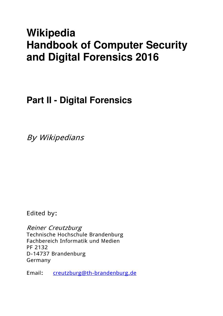 medium resolution of  pdf wikipedia handbook of computer security and digital forensics 2016 part ii digital forensics