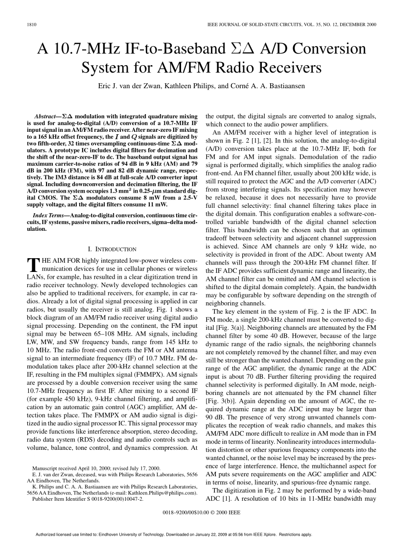 hight resolution of simplified block diagram of an am fm radio with digital audio signal download scientific diagram