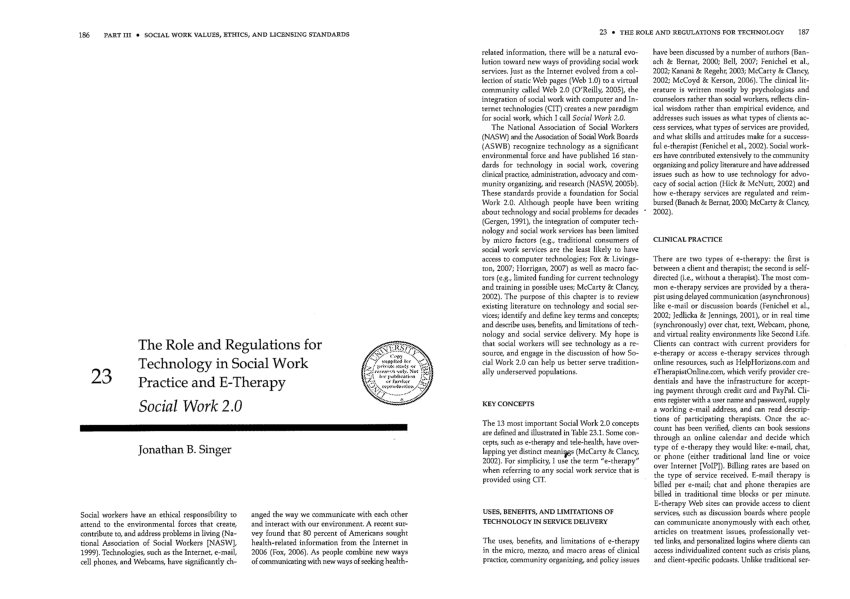 (PDF) The role and regulations for technology in social