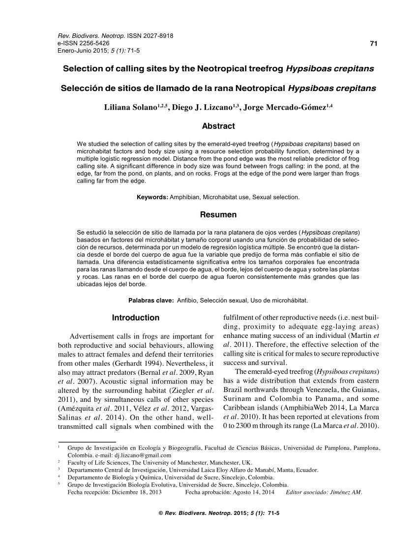 (Pdf) Breeding And Parental Behaviour In The Glass Frog Centrolene Savagei  (Anura: Centrolenidae)