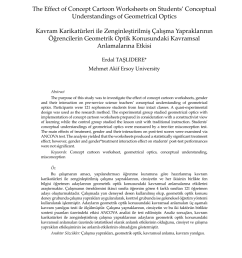 PDF) The Effect of Concept Cartoon Worksheets on Students' Conceptual  Understandings of Geometrical Optics [ 1200 x 850 Pixel ]