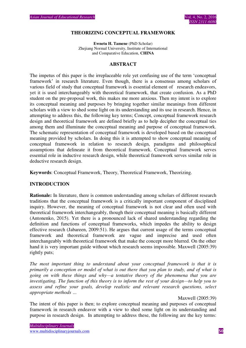 Theoretical And Conceptual Framework Example Pdf | damnxgood.com