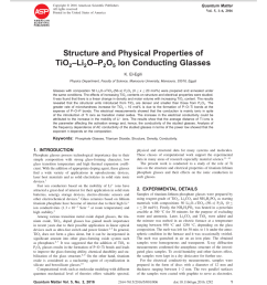 pdf structure and physical properties of tio2 li2o p2o5 ion conducting glasses [ 850 x 1108 Pixel ]