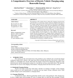 pdf a comprehensive overview of electric vehicle charging using renewable energy [ 850 x 1203 Pixel ]