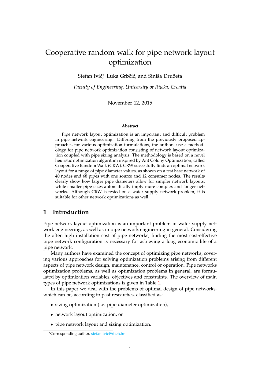 hight resolution of  pdf simultaneous layout and pipe size optimization of pipe networks using genetic algorithm
