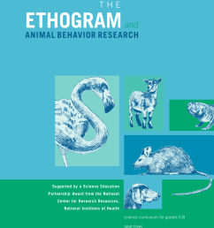 PDF) The Ethogram and Animal Behavior Research [ 1100 x 850 Pixel ]