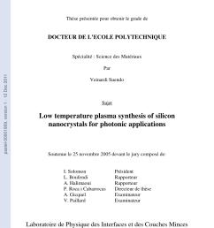 pdf physico chimie des plasmas de silane pour la formation de nacocristaux de silicium a temp tature ambiante application des dispositifs  [ 850 x 1202 Pixel ]