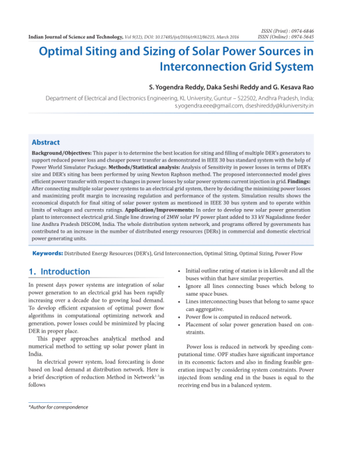 small resolution of  pdf optimal siting and sizing of solar power sources in interconnection grid system