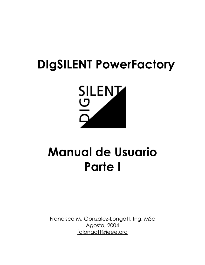 (PDF) Manual de usuario de DIgSILENT PowerFactory 12.0 en
