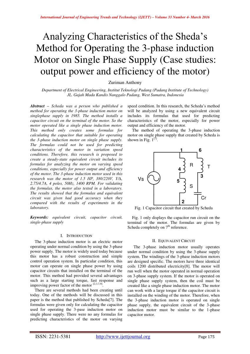 medium resolution of equivalent circuit of the capacitor run motor a download scientific diagram