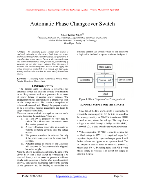 small resolution of  pdf automatic phase changeover switch