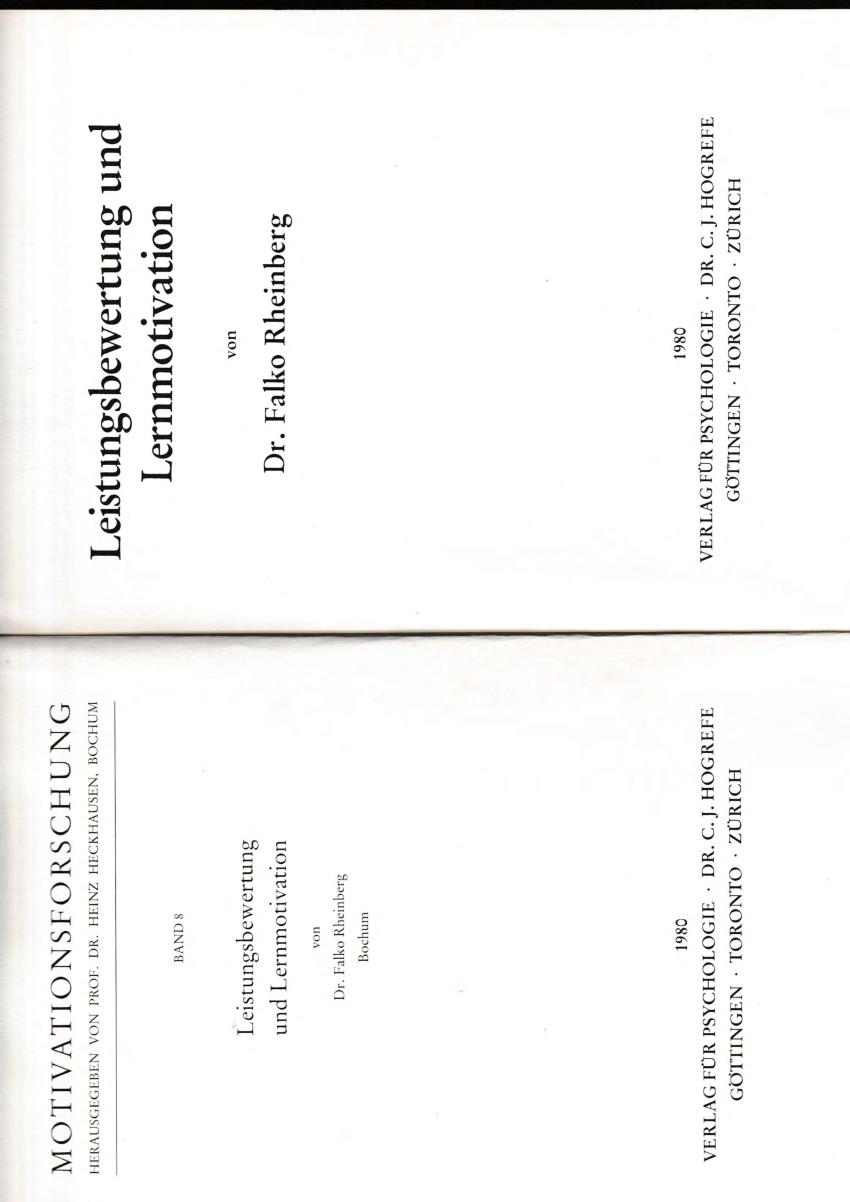 (PDF) Leistungsbewertung und Lernmotivation
