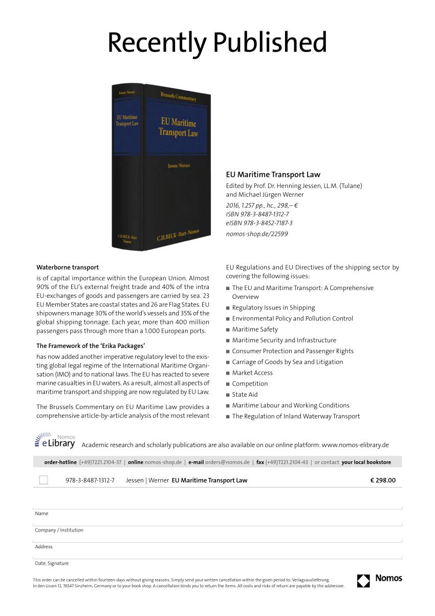 (PDF) EU Maritime Transport Law