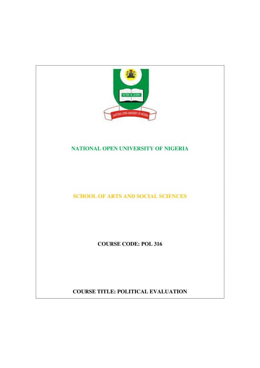(PDF) Political Evaluation