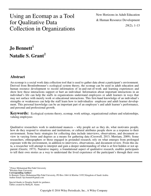 small resolution of  pdf using an ecomap as a tool for qualitative data collection in organizations