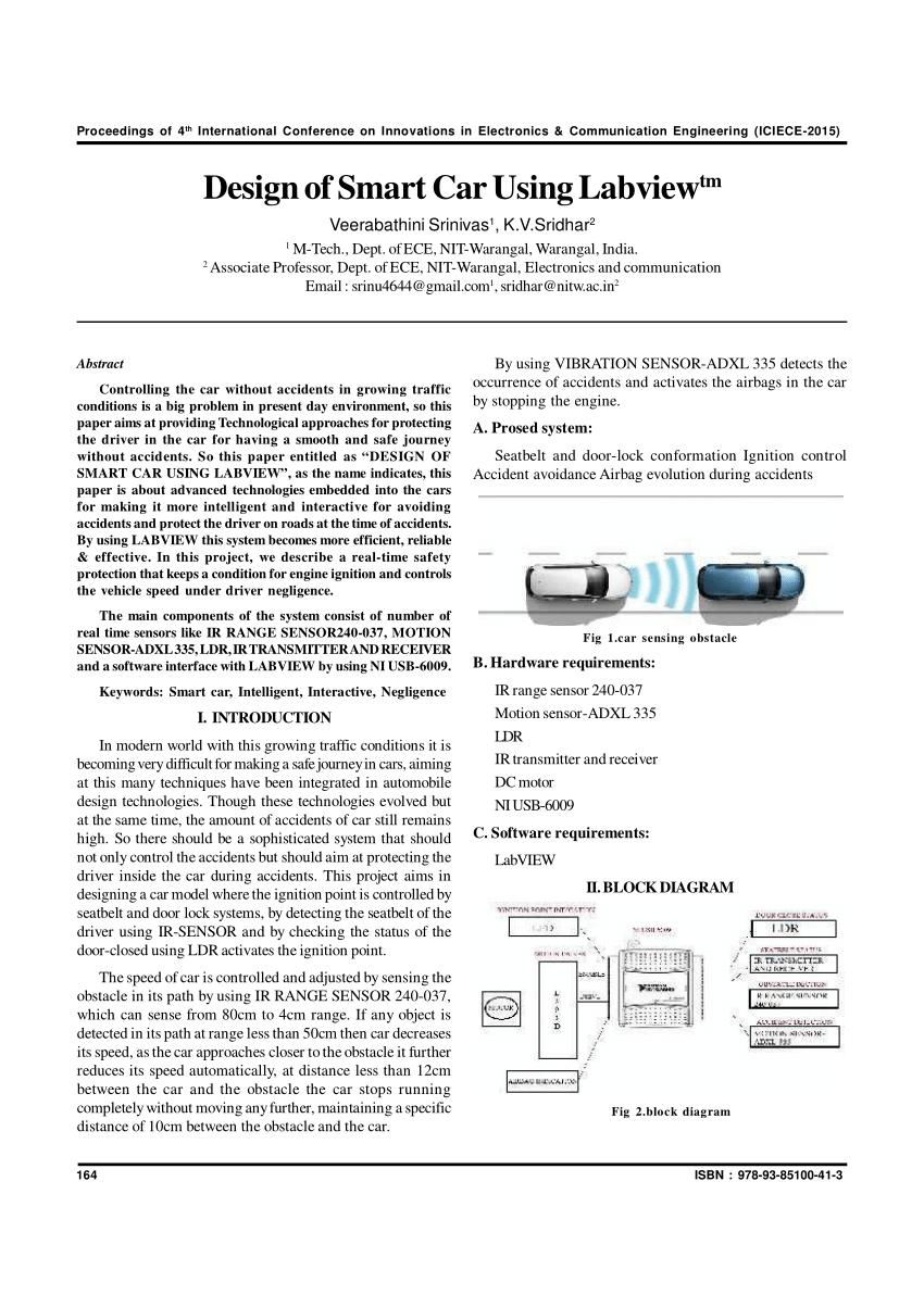 medium resolution of  pdf design of smart car using labview tm