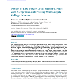 pdf design of low power level shifter circuit with sleep transistor using multisupply voltage scheme [ 850 x 1153 Pixel ]