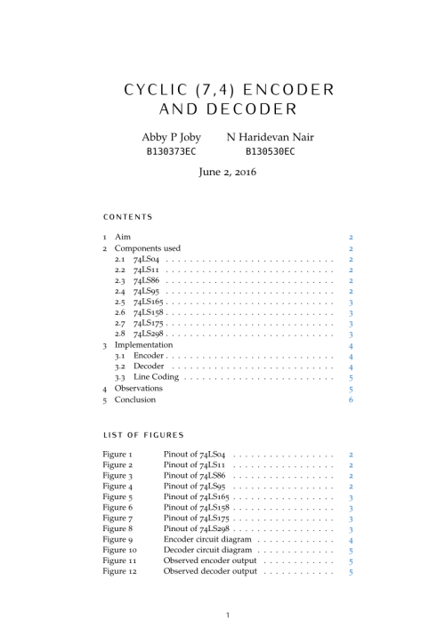 small resolution of  pdf cyclic 7 4 encoder and decoder hardware implementation