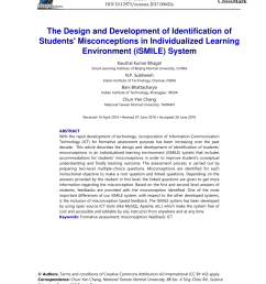 pdf the design and development of identification of students misconceptions in individualized learning environment ismile system [ 850 x 1202 Pixel ]