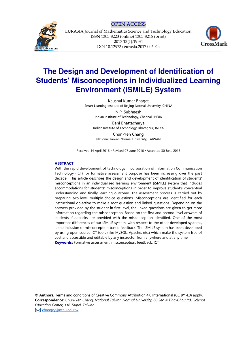 hight resolution of  pdf the design and development of identification of students misconceptions in individualized learning environment ismile system