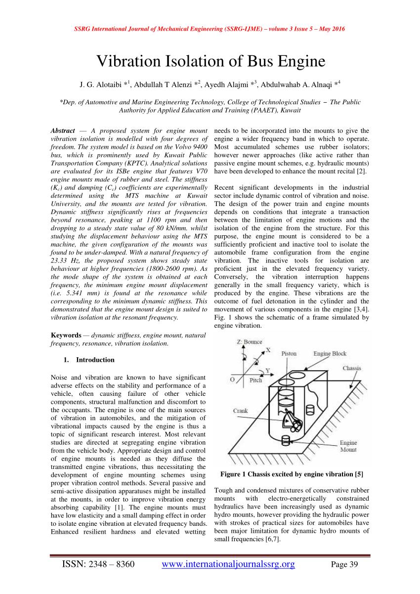 medium resolution of  pdf vibration isolation of bus engine