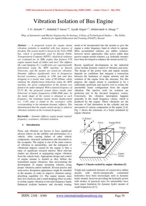 small resolution of  pdf vibration isolation of bus engine