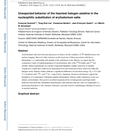 pdf unexpected behavior of the heaviest halogen astatine in the nucleophilic substitution of aryliodonium salts [ 850 x 1100 Pixel ]