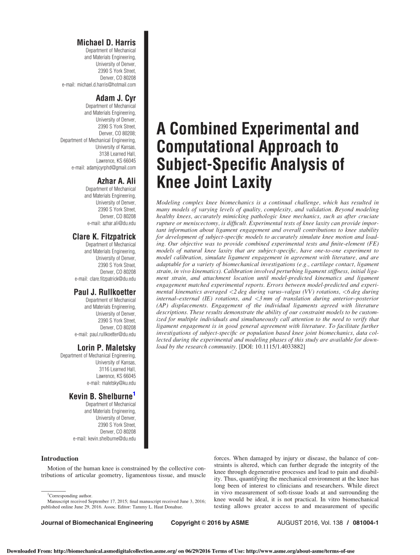 (PDF) A Combined Experimental and Computational Approach