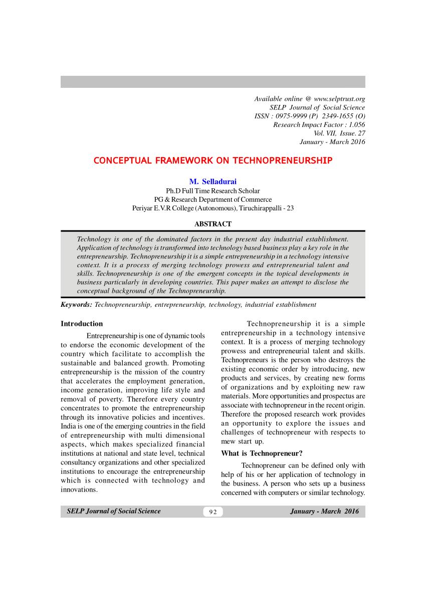 JOURNAL TECHNOPRENEURSHIP PDF