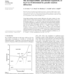 pdf the incompressibility and thermal expansivity of d2o ice ii determined by powder neutron diffraction [ 850 x 1107 Pixel ]