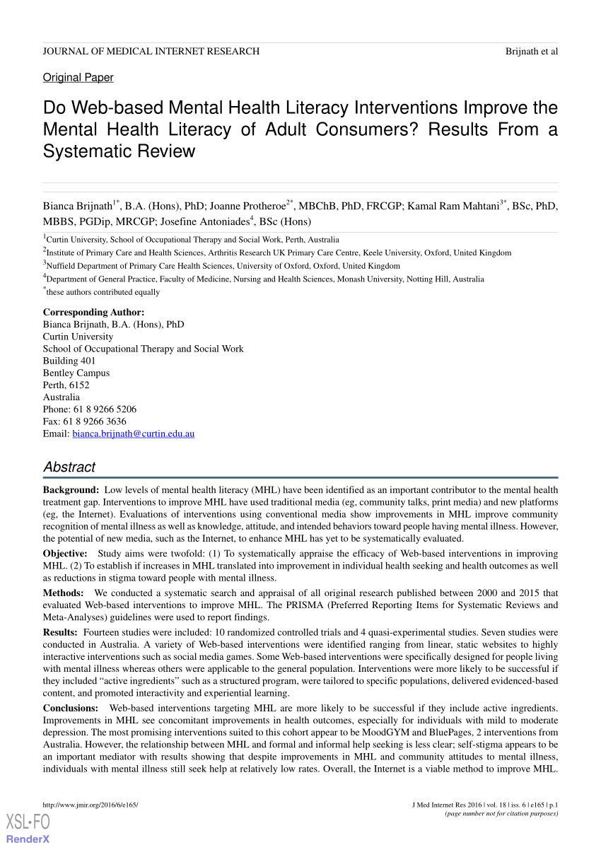 (Pdf) An Evaluation Of 'reach Out Central': An..