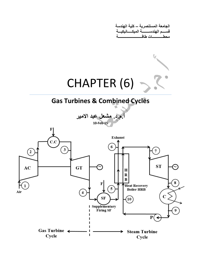 hight resolution of  pdf power plant lecture notes chapter 6 gas turbines combined cycles