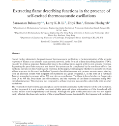 pdf extracting flame describing functions in the presence of self excited thermoacoustic oscillations [ 850 x 1260 Pixel ]