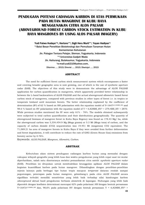small resolution of  pdf pendugaan potensi cadangan karbon di atas permukaan pada hutan mangrove di kubu raya menggunakan citra alos palsar aboveground forest carbon stock