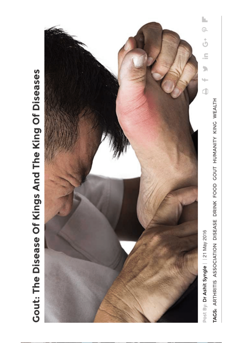 (PDF) Gout: The Disease Of Kings And The King Of Diseases