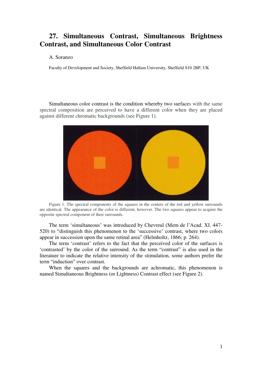medium resolution of  pdf the effects of color on brightness