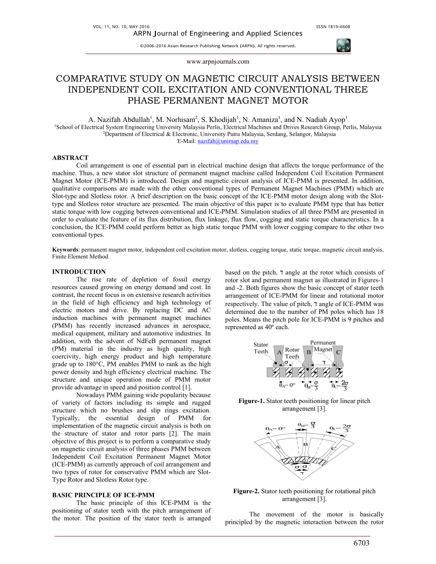 hight resolution of  pdf comparative study on magnetic circuit analysis between independent coil excitation and conventional three phase permanent magnet motor